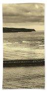 Whitby Harbor Bath Towel