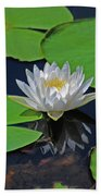2- White Water Lily Bath Towel