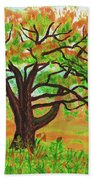 Willow Tree, Painting Bath Towel