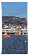 Winter Harbour - Lyme Regis Bath Towel