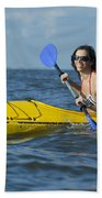 Woman Kayaking Bath Towel