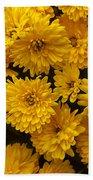 Yellow Chrysanthemums Bath Towel