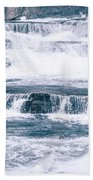 Kootenai River Water Falls In Montana Mountains Bath Towel