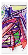 2010 Abstract Drawing Eleven Bath Towel