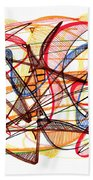 2010 Abstract Drawing Fourteen Bath Towel