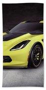 2016 Chevrolet Corvette Z06 Coupe Sports Car Bath Towel
