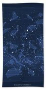 2017 Pi Day Star Chart Carree Projection Bath Towel