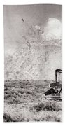 2017_06_lamesa Tx_pump Jack Windmill 3 Textured And Aged Hand Towel
