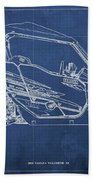 2018 Yamaha Wolverine X4 Blueprint Blue Background Gift For Dad Bath Towel