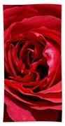 Red Rose Bath Towel
