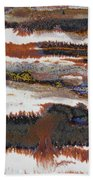 22. V2 Rustic Brown, Red And White Glaze Painting Bath Towel