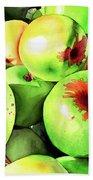 #227 Green Apples Bath Towel