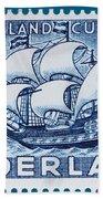 Old Dutch Postage Stamp Bath Towel