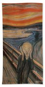 The Scream Bath Towel