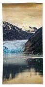 Sawyer Glacier At Tracy Arm Fjord In Alaska Panhandle Bath Towel