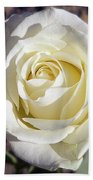 White Rose Bath Towel