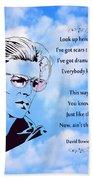 256- David Bowie Bath Towel