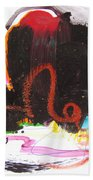 Abstract Landscape Painting Bath Towel