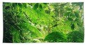 Jungle Leaves Bath Towel