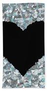 Love Heart Valentine Shape Bath Towel