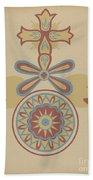 "Santa Barbara Mission Doorway Design From The Portfolio ""decorative Art Of Spanish California"" Bath Towel"