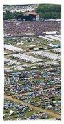 Bonnaroo Music Festival Aerial Photography Bath Towel