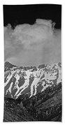 2d07509-bw High Peaks In Lost River Range Bath Towel