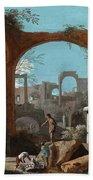 A Capriccio Of Roman Ruins Bath Towel