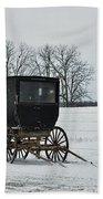 Amish Buggy Near Shipshe Bath Towel