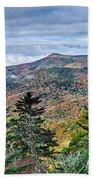 Autumn Foliage On Blue Ridge Parkway Near Maggie Valley North Ca Bath Towel