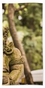 Bali Sculptures Bath Towel