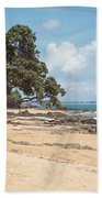 Beach In New Zealand Bath Towel