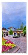 Bolzano Main Square Waltherplatz Panoramic View Hand Towel