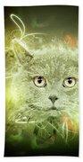 British Shorthair Cat Bath Towel