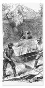 California Gold Rush, 1860 Bath Towel