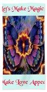 Celestial Butterfly Bath Towel