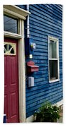 Colorful Houses In St. John's Bath Towel