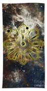 Conceptual Illustration Of Atomic Clock Bath Towel