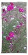 Cosmos Flowers    Bath Towel