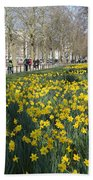 Daffodils In St James Park London Bath Towel