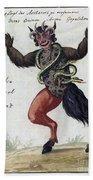 Demonology, 18th Century Bath Towel