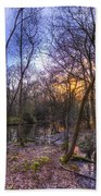 Early Morning Forest Pond Bath Towel