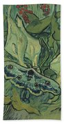Emperor Moth Bath Towel