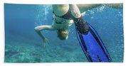 Female Snorkeling Bath Towel