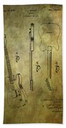Fender Guitar Patent From 1951 Bath Towel