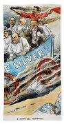 Free Silver Cartoon, 1896 Bath Towel