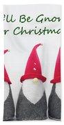 Christmas Gnomes Bath Towel