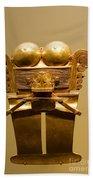 Golden Pre-columbian Figure Bath Towel