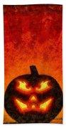 Halloween Pumpkin Bath Towel