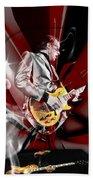 Joe Bonamassa Blue Guitarist Art Hand Towel